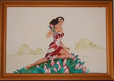 Hawaiian Female Postcard
